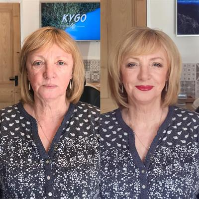 Before and after make up by Suezanna Ward