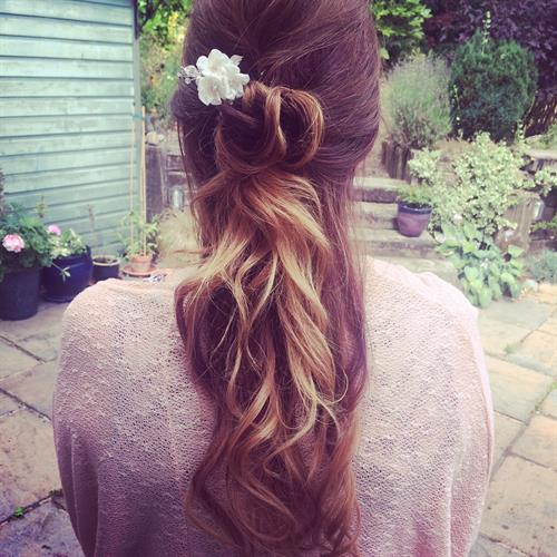 Simple boho hairstyle