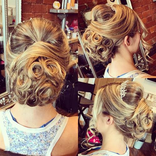 Elegant wedding hair up by our bridal expert Suezanna Ward