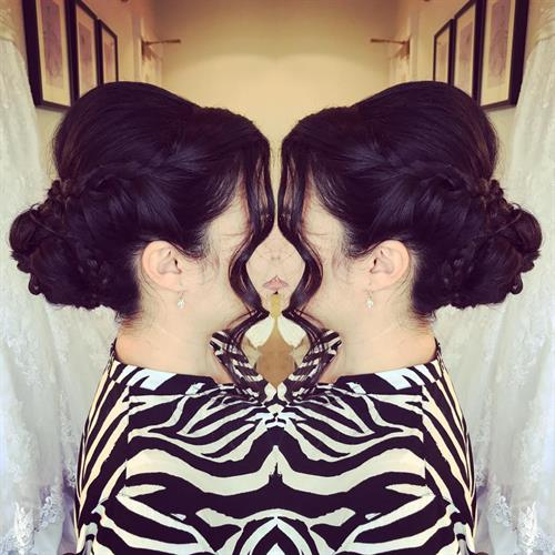 Bridal up do bringing all the height and volume