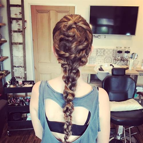 Mermaid style! Creative plait by Suezanna Ward.