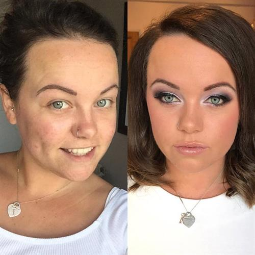 Before and after glam make up by Suezanna Ward