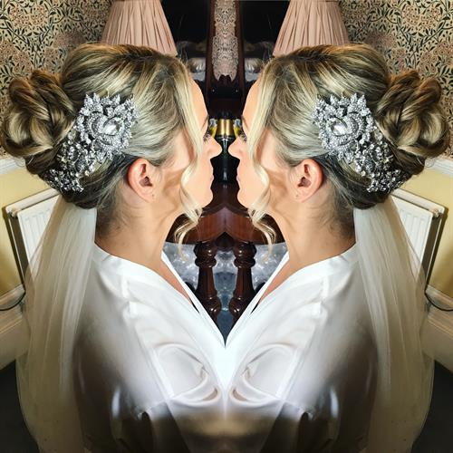 Bridal hair goals by suezanna Ward at Make My Day Make Up Studio.