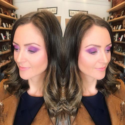 Purple smokey eye, a great alternative to brown or black eyeshadow.