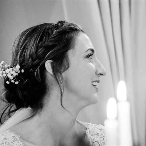 Simple boho bridal up do