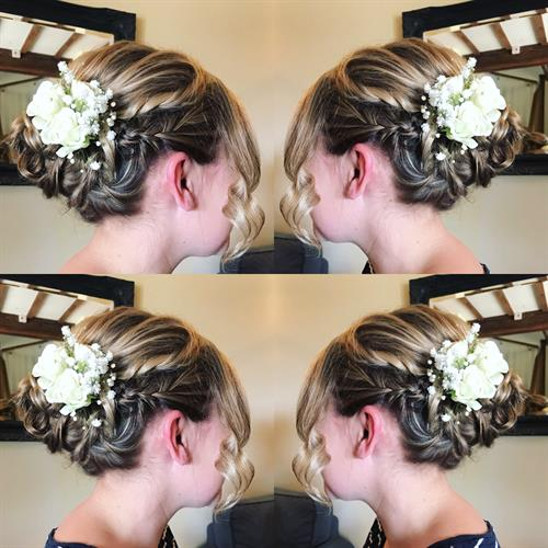 Boho bridal up do by Suezanna Ward