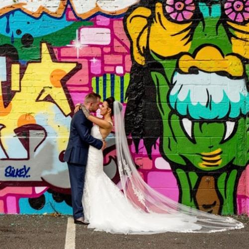 Custard factory wedding in Digbeth Birmingham. Such a cool place!