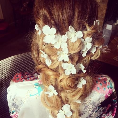 Boho bridal fishtail plait by Suezanna Ward