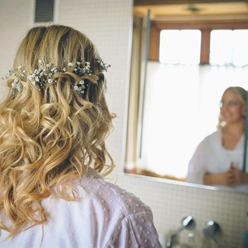 The ultimate bridal hairstyle with a waterfall braid