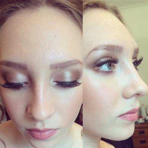 Natural make up perfect for a bridal make up, or a bridesmaid make up