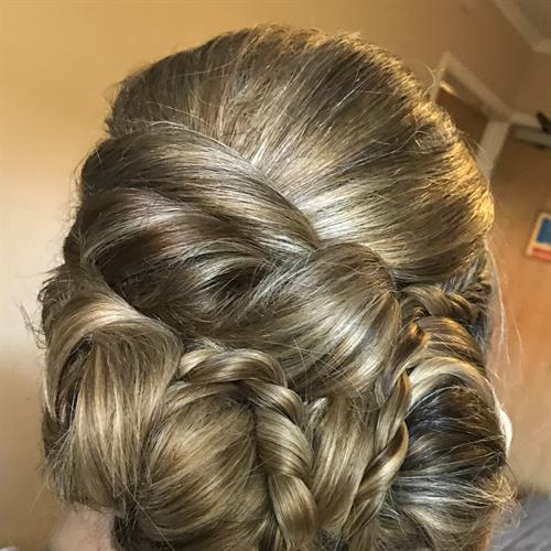 Creative bridal up do by Suezanna Ward