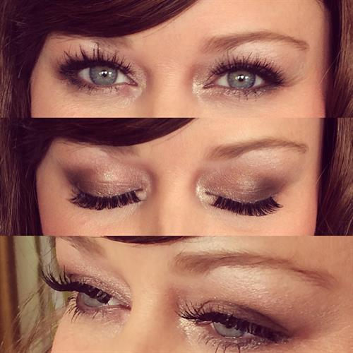 Gorgeous smokey eyes and wispy lashes
