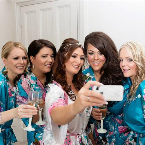 Bridal party selfie. Hair and make up Suezanna Ward