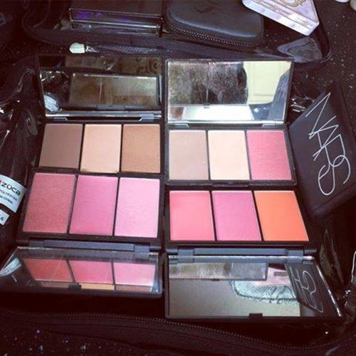 Blusher for days. A selection from our Pro make up kit