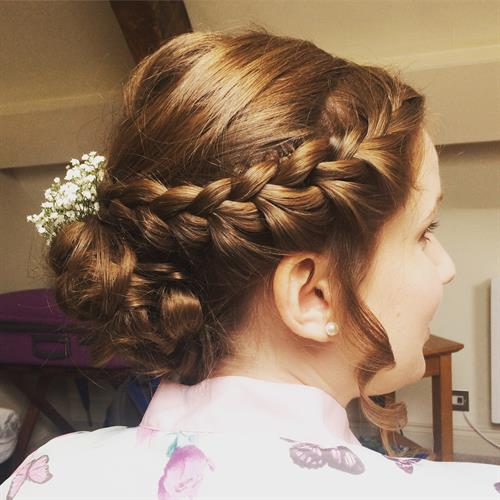 Plaited bridal up do by Make My Day Make Up Studio