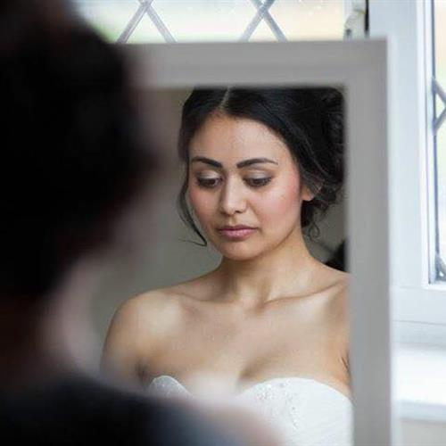 Natural bridal make up and bridal hair up do
